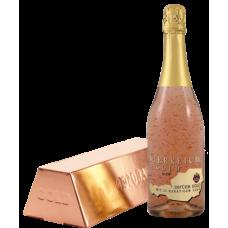 Sampanie cu foite de aur 23 k - Österreich Gold Rose 0,75 litri + cutie